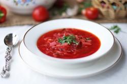 Вегетарианский борщ при лечебно-профилактическом питании