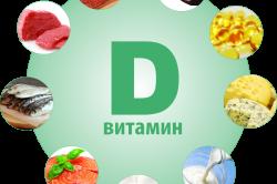 Содержание витамина D в пище